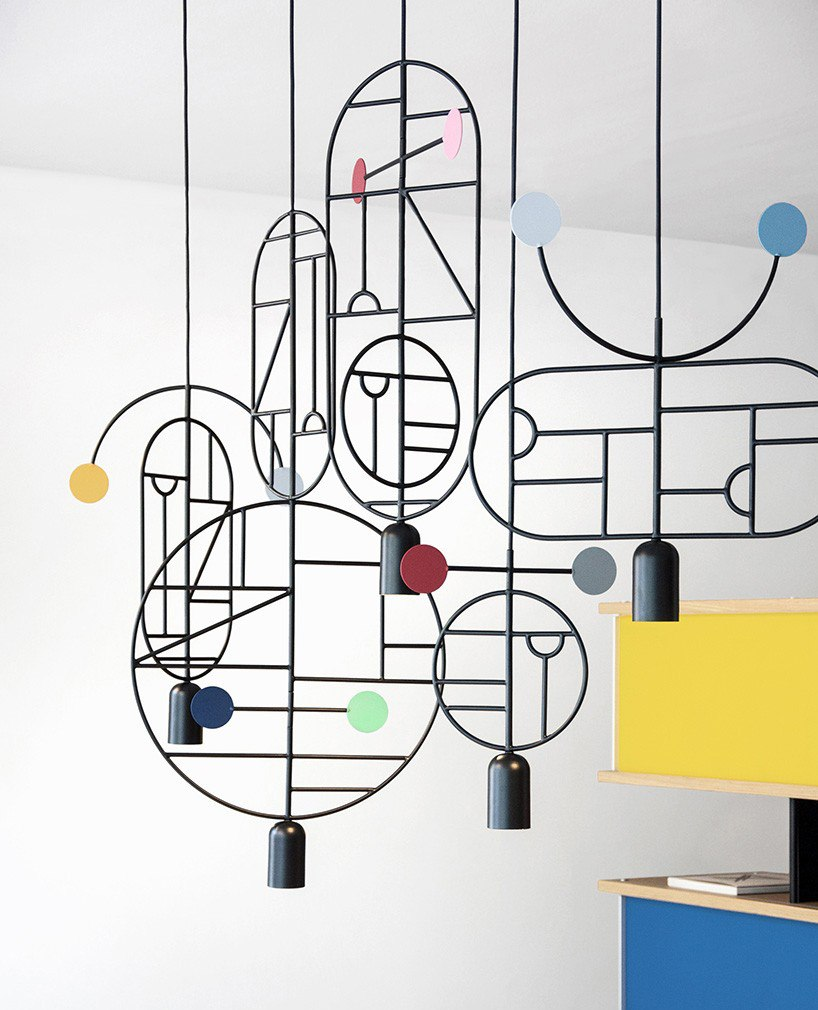Люстра подвес Lines & Dots LD07 от GOFI от Goula & Figuera