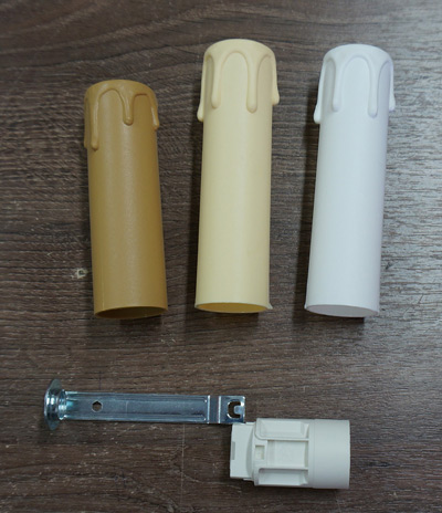 Патрон Е14 Оплывшая (оплавленная) свеча, цвет белый
