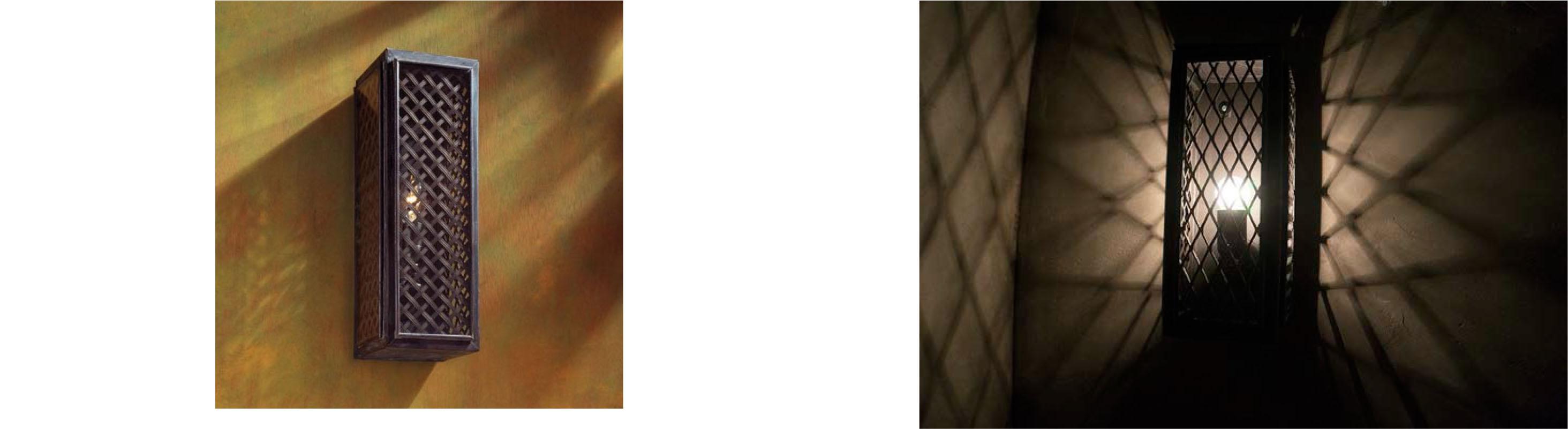 Tekna Essex mesh wall lamp