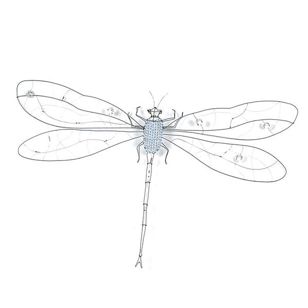 Настенный светильник в виде стрекозы